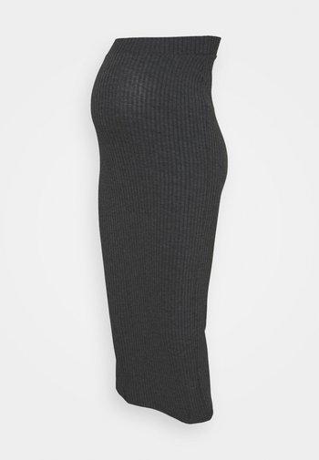 BUMP SKIRT - Długa spódnica - charcoal