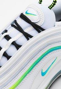 Nike Sportswear - AIR MAX 97 UNISEX - Sneakersy niskie - white/blue fury/volt/black/summit white/flash crimson - 3