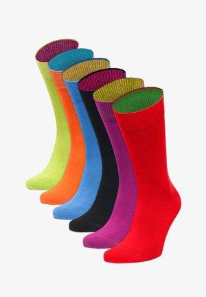 FARBEXPLOSION - Sokken - rot,lila,schwarz,blau,orange,grün