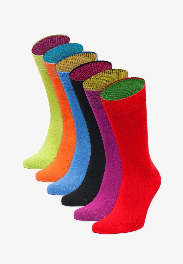 FARBEXPLOSION - Socks - rot,lila,schwarz,blau,orange,grün