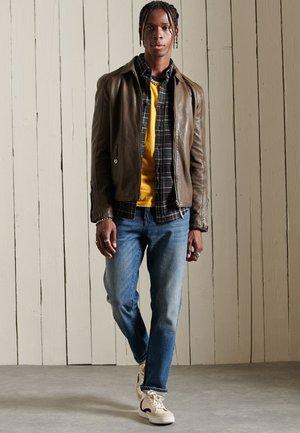 Leather jacket - khaki