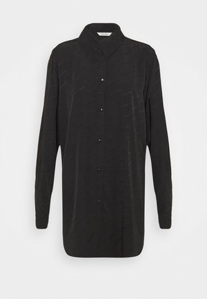 POMMEN - Button-down blouse - black