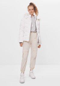 Bershka - Down jacket - white - 1