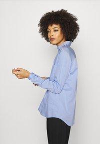 Opus - FALENTA DOBBY - Button-down blouse - blue mood - 3