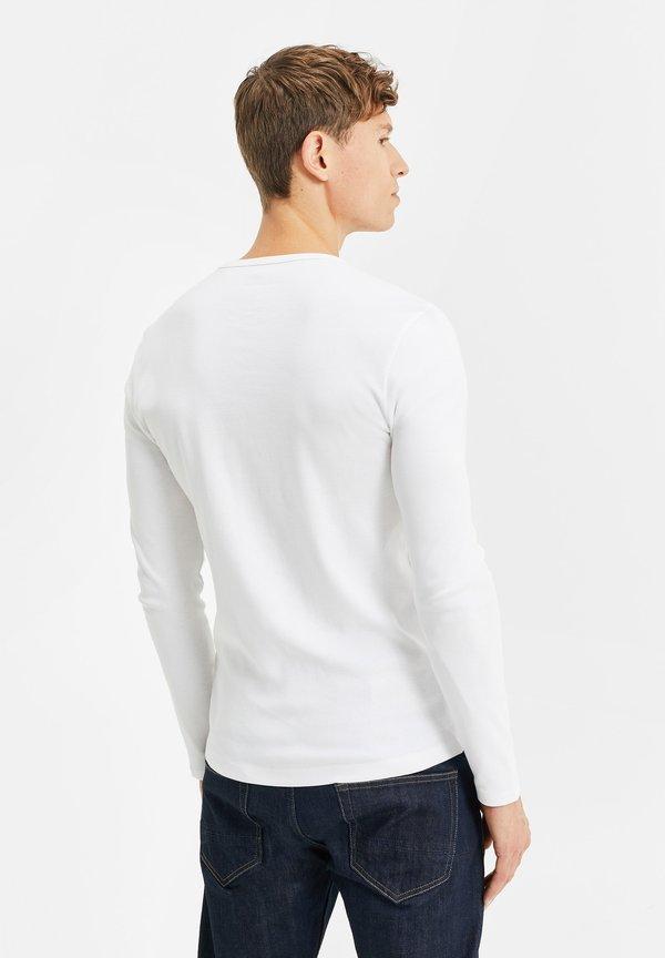 WE Fashion Bluzka z długim rękawem - white/biały Odzież Męska GRWX