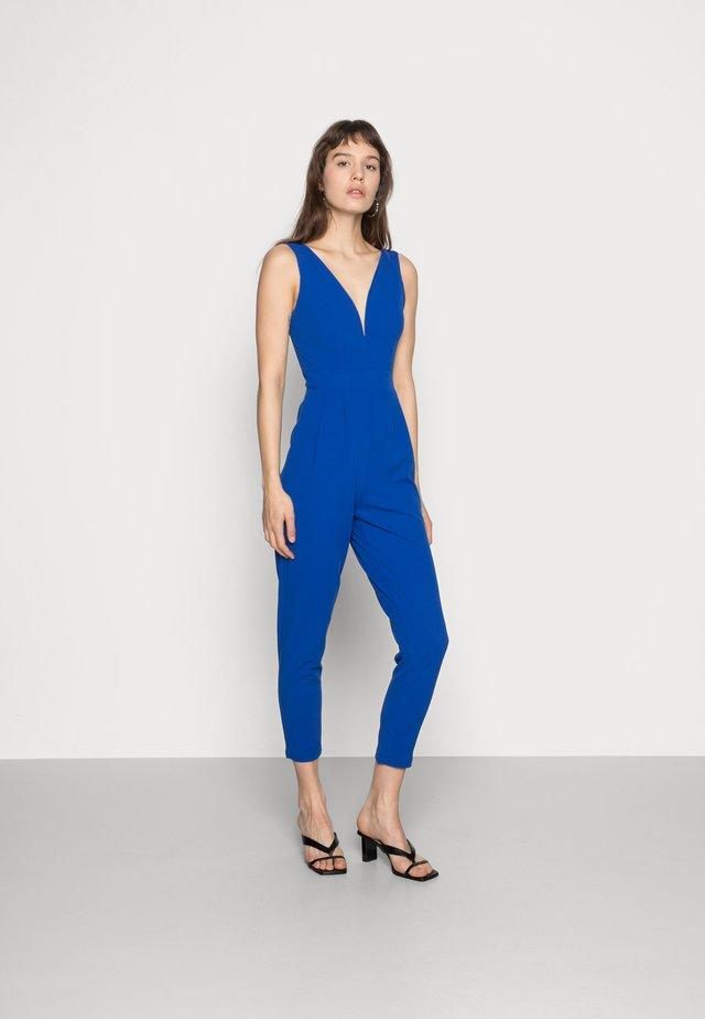SLEEVELESS PLUNGE  - Jumpsuit - cobalt blue