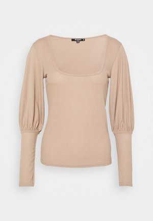 PUFF SLEEVE MILKMAID TOP - Long sleeved top - macoron