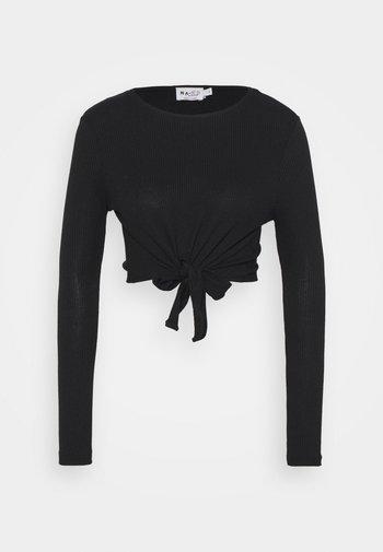 KNOT DETAIL - Long sleeved top - black