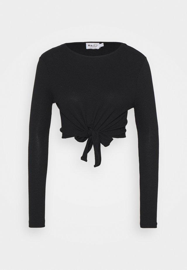 KNOT DETAIL - Langarmshirt - black