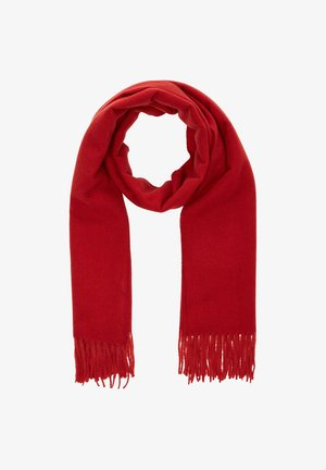 WEICHER SCHAL MIT KORDELFRANSEN - Scarf - burned red
