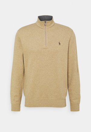 JERSEY QUARTER-ZIP PULLOVER - Sweatshirts - luxury tan heather