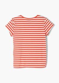s.Oliver - Print T-shirt - orange stripes - 1