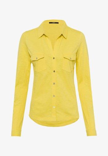 Button-down blouse - yellow lime