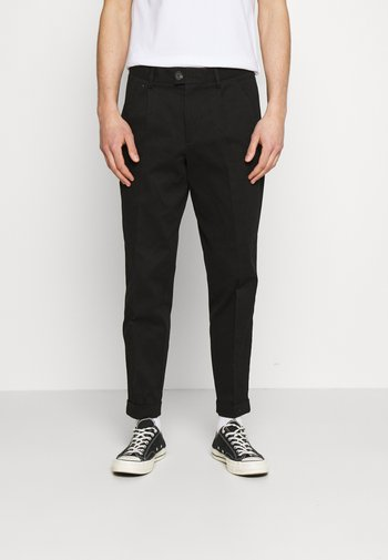 JJIBILL JJBRAD CROPPED - Trousers - black