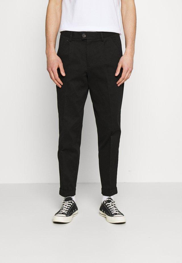 JJIBILL JJBRAD CROPPED - Pantaloni - black