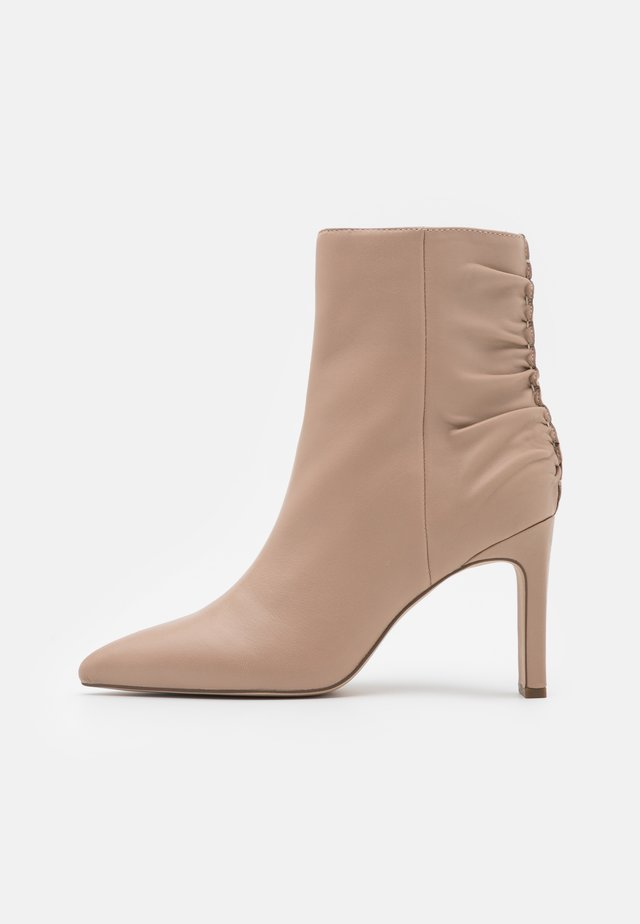 High heeled ankle boots - nude