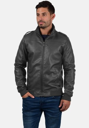 CONWAY - Faux leather jacket - dark grey