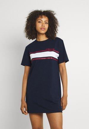 CHEST STRIPE DRESS - Jersey dress - navy