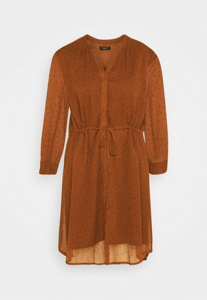 SLFMARIA DOT DAMINA DRESS - Shirt dress - ginger bread