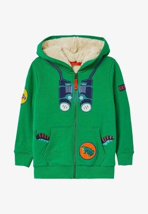 Zip-up hoodie - baumgrün
