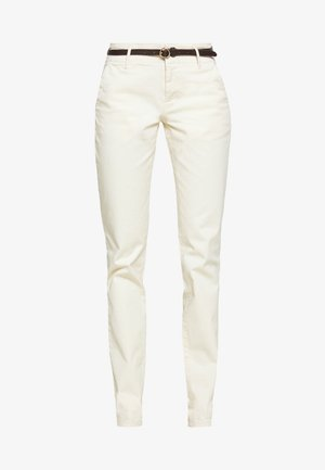 WITH BELT - Chino kalhoty - antique white