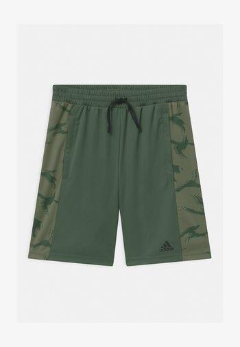 UNISEX - Sports shorts - green oxide/black