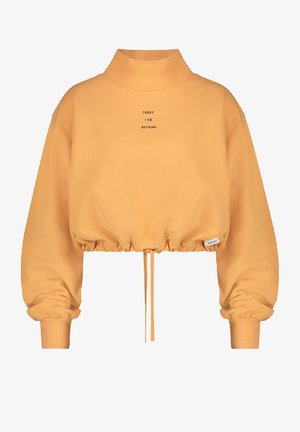 Sweater - orange / black