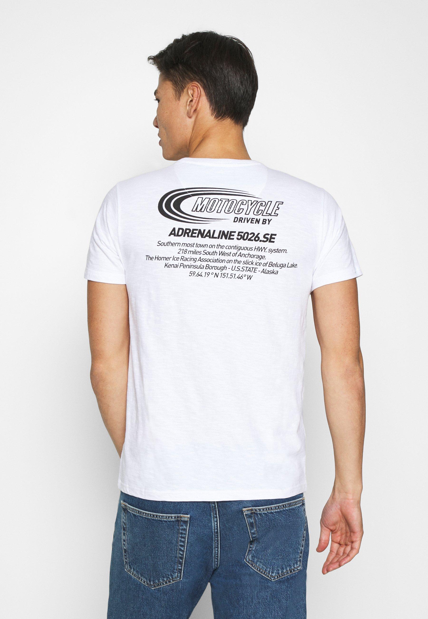 Petrol Industries Print T-shirt - bright white u7Ctn