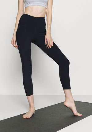 POCKET 7/8 - Leggings - navy rib