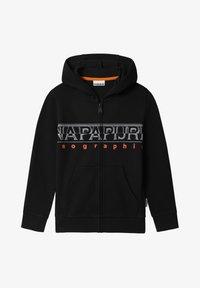 Napapijri - BADYR FULL ZIP HOOD - Zip-up hoodie - black - 0
