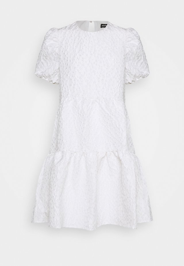 PARADE BABYDOLL MINI DRESS - Korte jurk - ivory