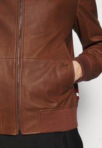 Bally - Kožená bunda - brown - 4