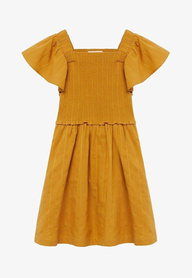 NATALIE - Korte jurk - mosterd