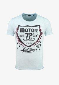 Key Largo - Print T-shirt - sky blue - 0