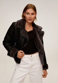 Mango - CADI - Faux leather jacket - schwarz - 0