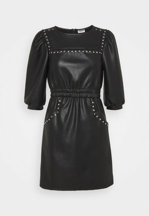 NMHILL SLEEVE STUD DRESS  - Day dress - black