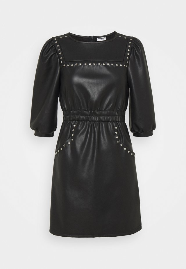 NMHILL SLEEVE STUD DRESS  - Vestito estivo - black