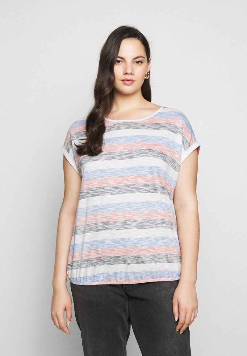 MY TRUE ME TOM TAILOR - INSIDE STRIPE - Print T-shirt - blue/multicolor
