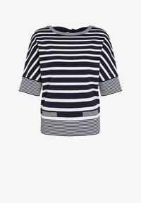 Oui - MIT STREIFEN - T-shirt imprimé - lt blue white - 4