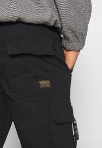 Topman - WEBBING - Cargo trousers - black - 6