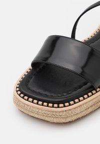 Sportmax - VALLO - Sandály na platformě - nero - 6