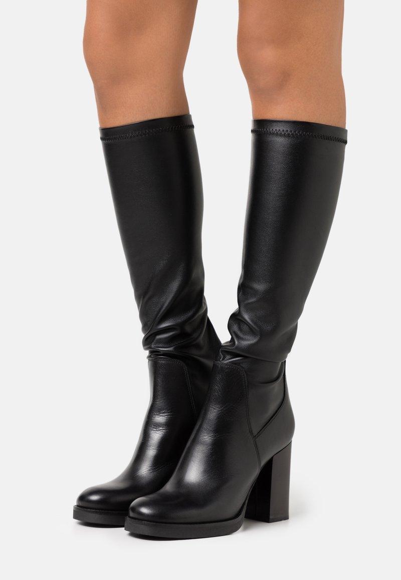 Minelli - Kozačky na vysokém podpatku - noir