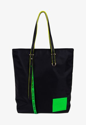 BLACK LABEL FIVE - Tote bag - black/green
