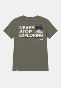 The North Face - EXPLORE UNISEX - Print T-shirt - agave green/white/black - 1