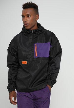 BOX HALF ZIP - Windbreaker - black/purple
