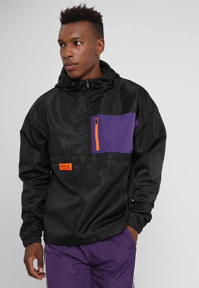 BOX HALF ZIP - Vindjakke - black/purple