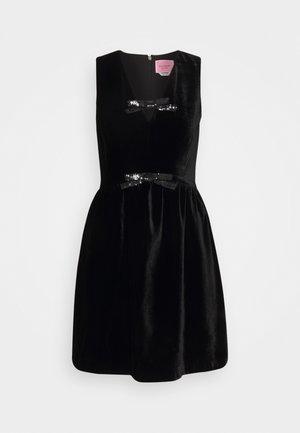 SEQUIN BOW DRESS - Koktejlové šaty/ šaty na párty - black