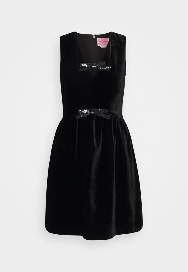 SEQUIN BOW DRESS - Cocktail dress / Party dress - black