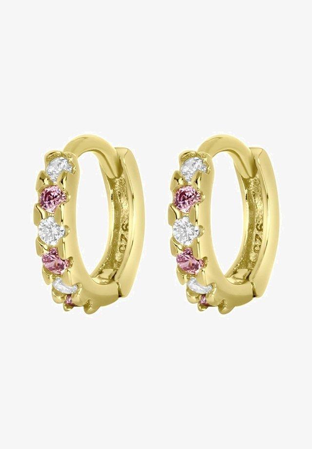 Earrings - goudkleurig/roze