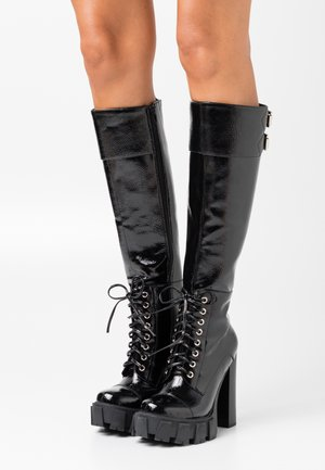 MYTHIC - High heeled boots - black